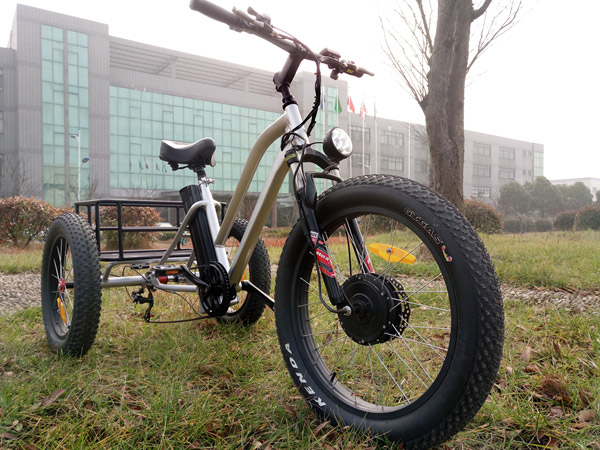 24 inch electric fat tire tricycle