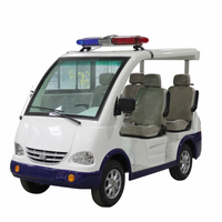 4 Seats Electric Public Security Car with Alarm Lamp